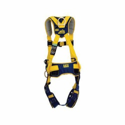 3M DBI-SALA Fall Protection 1100798 Delta™ Positioning Harness, XL, 420 lb Load, Polyester Strap, Tongue Leg Strap Buckle, Quick-Connect Chest Strap Buckle, Stainless Steel Grommet/Zinc Plated Steel/Aluminum/Stainless Steel Hardware, Yellow