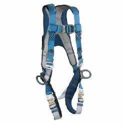 3M DBI-SALA Fall Protection 1102343 ExoFit™ Harness, XL, 420 lb Load, Polyester Strap, Quick-Connect Leg Strap Buckle, Quick-Connect Chest Strap Buckle, Nylon/Steel Hardware, Blue