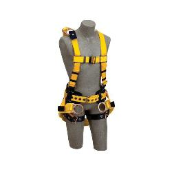 3M DBI-SALA Fall Protection 648250-16440 Delta™ Derrick Harness, L, 420 lb Load, Polyester Strap, Tongue Leg Strap Buckle, Parachute Chest Strap Buckle, Yellow