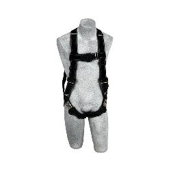 3M DBI-SALA Fall Protection 1110831 Delta™ Harness, XL, 310 lb Load, Kevlar®/Nomex® Strap, Pass-Thru Leg Strap Buckle, Pass-Thru Chest Strap Buckle, Black