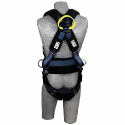3M DBI-SALA Fall Protection 1110870 ExoFit™ XP Arc Flash Dorsal Front Harness, M, 310 lb Load, Kevlar®/Nomex® Strap, Quick-Connect Leg Strap Buckle, Quick-Connect Chest Strap Buckle, Steel Hardware, Blue