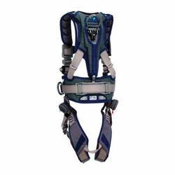 3M DBI-SALA Fall Protection 840779-10986 ExoFit™ STRATA™ Positioning Harness, L, 420 lb Load, Polyester Strap, Quick-Connect Leg Strap Buckle, Quick-Connect Chest Strap Buckle, Aluminum/Steel Hardware, Blue/Gray