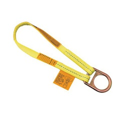 3M DBI-SALA Fall Protection 840779-00041 Web Scaffold Choker With D-Ring and Web Loop, 1.4 ft L x 1 in W, Polyester, Yellow