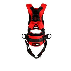 3M Protecta Fall Protection 1161216 Positioning Harness, S, 420 lb Load, Polyester Strap, Tongue Leg Strap Buckle, Quick-Connect Chest Strap Buckle, Steel Hardware, Black
