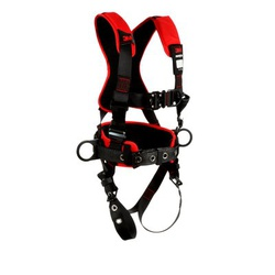 3M Protecta Fall Protection 1161223 Positioning/Climbing Harness, S, 420 lb Load, Polyester Strap, Tongue Leg Strap Buckle, Quick-Connect Chest Strap Buckle, Steel Hardware, Black