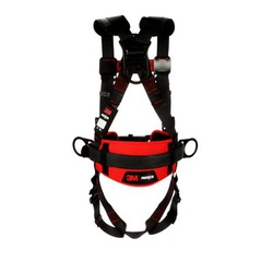 3M Protecta Fall Protection 1161305 Positioning Harness, M to L, 420 lb Load, Polyester Strap, Pass-Thru Leg Strap Buckle, Pass-Thru Chest Strap Buckle, Steel Hardware, Black