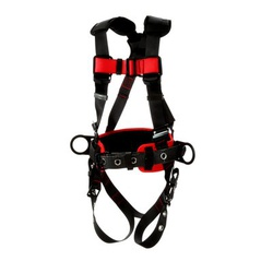 3M Protecta Fall Protection 840779-15943 Positioning Harness, XL, 420 lb Load, Polyester Strap, Tongue Leg Strap Buckle, Pass-Thru Chest Strap Buckle, Steel Hardware, Black