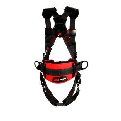 3M Protecta Fall Protection 1161316 Positioning Harness, M to L, 420 lb Load, Polyester Strap, Tongue Leg Strap Buckle, Quick-Connect Chest Strap Buckle, Steel Hardware, Black