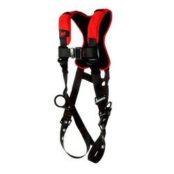 3M Protecta Fall Protection 1161416 Positioning Harness, 2XL, 420 lb Load, Polyester Strap, Tongue Leg Strap Buckle, Pass-Thru Chest Strap Buckle, Steel Hardware, Black