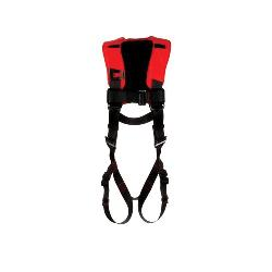 3M Protecta Fall Protection 1161424 Harness, M to L, 420 lb Load, Polyester Strap, Pass-Thru Leg Strap Buckle, Pass-Thru Chest Strap Buckle, Steel Hardware, Black