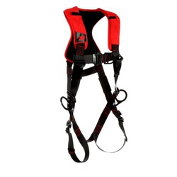 3M Protecta Fall Protection 1161438 Positioning/Climbing Harness, XL, 420 lb Load, Polyester Strap, Pass-Thru Leg Strap Buckle, Pass-Thru Chest Strap Buckle, Steel Hardware, Black