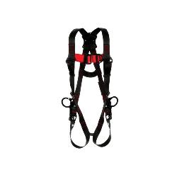 3M Protecta Fall Protection 1161509 Positioning/Climbing Harness, 2XL, 420 lb Load, Polyester Strap, Tongue Leg Strap Buckle, Pass-Thru Chest Strap Buckle, Steel Hardware, Black