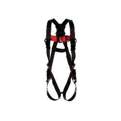 3M Protecta Fall Protection 1161522 Climbing Harness, XL, 420 lb Load, Polyester Strap, Tongue Leg Strap Buckle, Pass-Thru Chest Strap Buckle, Steel Hardware, Black