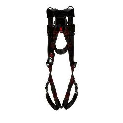 3M Protecta Fall Protection 1161530 Retrieval Harness, XL, 420 lb Load, Polyester Strap, Quick-Connect Leg Strap Buckle, Quick-Connect Chest Strap Buckle, Steel Hardware, Black