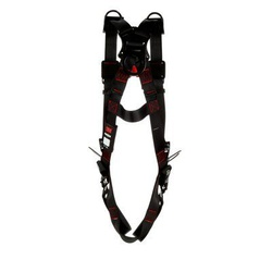 3M Protecta Fall Protection 1161539 Positioning/Retrieval Harness, M to L, 420 lb Load, Polyester Strap, Tongue Leg Strap Buckle, Pass-Thru Chest Strap Buckle, Steel Hardware, Black