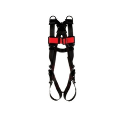 3M Protecta Fall Protection 1161552 Retrieval Harness, 2XL, 420 lb Load, Polyester Strap, Tongue Leg Strap Buckle, Pass-Thru Chest Strap Buckle, Steel Hardware, Black